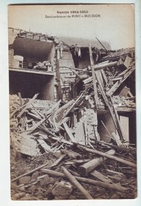 P1227 old unused postcard WWI guerre 1914-5 bombardment de pont-a-mousson france