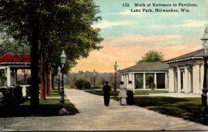 Wisconsin Milwaukee Lake Park Walk At Entrance To Pavilion 1911
