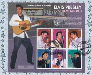 Elvis Presley 1956 Remembered Live On Stage Guyana Stamp FDC