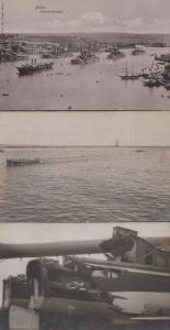 Malta Grand Harbour 3x Antique Ship Postcard s