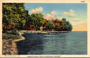 Maine Greetings From Madison 1945 Curteich