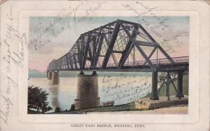 Tennessee Memphis Great Eads Bridge 1909