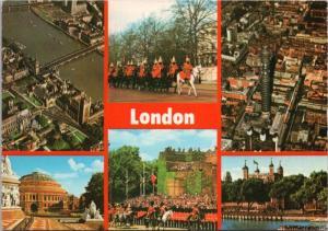 London England UK Multiview Albet c1981 Vintage Postcard D46