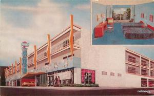 1950s Sorrento Motel auto swimming pool Atlantic City New Jersey postcard 6369