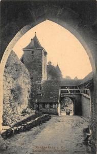 Rothenburg ob der Tauber Kobotzessertor Innenseire Gate Tower Postcard