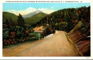 New York Adirondacks Wilmington Notch Between Wilmington and Lake Placed Curt...
