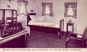 Hotels Afloat STATEROOMS ARE FURNISHED TO AFFORD EVERY COMFORT, WARD LINE STMRS