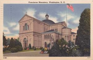 Franciscan Monastery - Washington, DC - pm 1956 - Linen