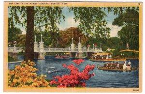 Boston, Mass, The Lake In The Public Gardens