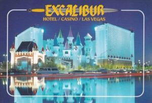 Nevada Las Vegas Excalibur Hotel and Casino At Night
