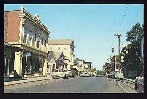 Bar Harbor, Maine/ME Postcard, Main Street, Rexall Sign/Old Cars, 1950's?