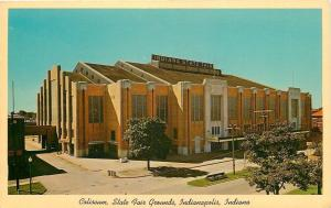 Indianapolis~Indiana State Fair Grounds~Coliseum~1960 Postcard