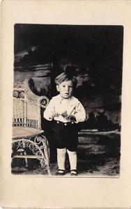People and Children Photographed on Postcard, Old Vintage Antique Post Card Y...