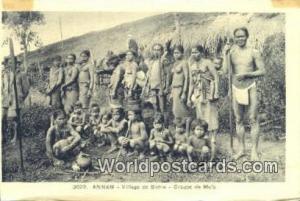 Vietnam, Viet Nam,  Nhân Vật Annam Village de Bobla, Groupe de Mois