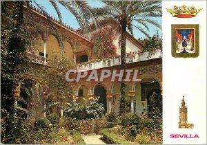 Postcard Modern Sevilla main patio del palacio de las duenas
