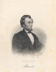 VINTAGE ENGRAVED PICTURES (11) Different: Abraham Lincoln