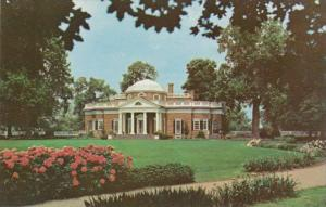 Virginia Charlottesvile The West front Showing Portion Of Garden Monticello H...