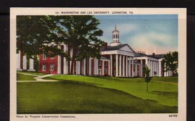 Virginia Postcard Washington & Lee Univ Lexington