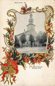 HALIFAX NOVA SCOTIA CA~ST PAUL'S CHURCH~HEBB FANCY BORDER SERIES~1906 POSTCARD