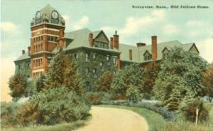 Worcester, Mass, Odd Fellows Home  early 1900s unused Pos...