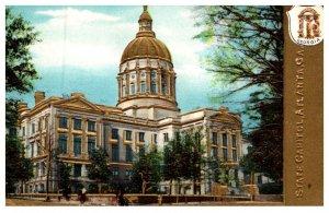 Georgia Atlanta  , Capitol Building , Gold Embossed