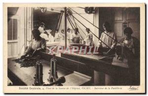 Old Postcard Cures Place Central Society of the Source of the Interieur & # 3...
