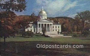 Montpelier, Vermont, VT State Capital, Capitals Postcard Post Card USA Montpe...
