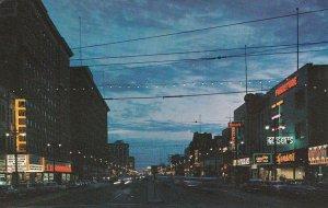 WINNIPEG , Manitoba , Canada , 1940-60s; Night View of Portage Avenue
