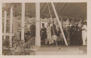 King George V Royal Visit To Nottingham Cafe WW1 1914 Postcard