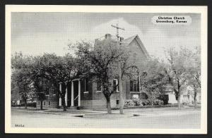 Christian Church Greensburg Kansas Unused c1940s