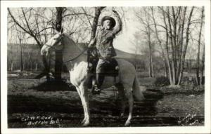 Buffalo Bill Cody Horse 1950s Kodak Real Photo Postcard - Reprint from Neg