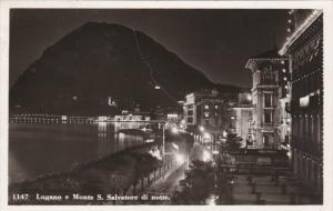 RP: Lugano e Monte S. Salvatore at night , TICINO , Switzerland , PU-1939