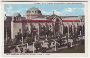 P357 JL, 1915 postcard panama-pacific expo palace industries san francisco calif