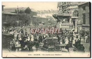 Paris Old Postcard One morning the covered market (market) TOP