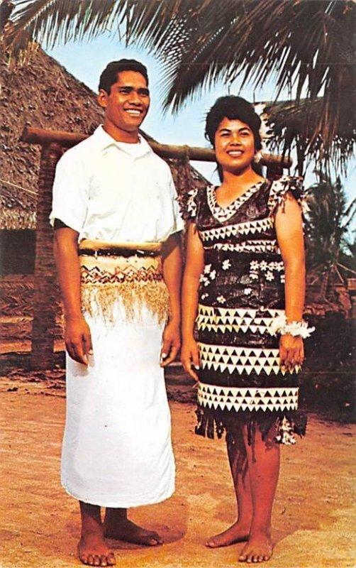 Two Tongan Villagers, Polynesian Cultural Center Tahiti Unused