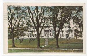 Old Folks Home Bath Maine 1937 postcard
