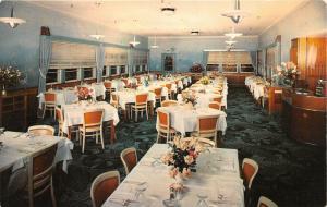 Daytona Beach Florida~Ridgewood Hotel Dining Room~Fancy Tableware~1950s Postcard