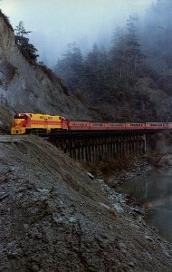 CA - Eel River Canyon, Scotia Bluffs. Train- Eureka Southern RR