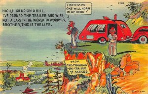 C-185 Ray Walters Comic I Betcha No One Will Horn In Up Here! Teich Postcard