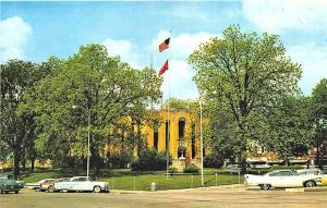 Ripley TN Lauderdale County Courthouse Old Cars Postcard