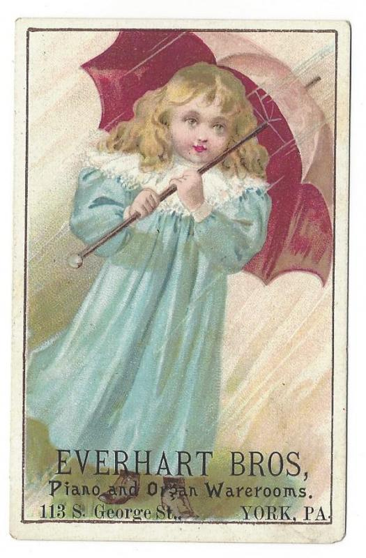 Trade Card Chicago Cottage Organs Everhart Bros York PA