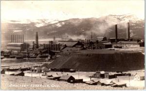 RPPC LEADVILLE, CO Colorado MINING SMELTER  c1930s  Sanborn Postcard