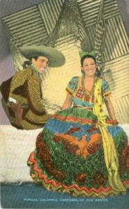 Typical Colorful Costumes of old Mexico, American Laredo,...