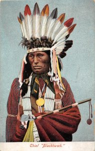 G21/ Native American Indian Postcard c1910 Chief Blackhawk 14