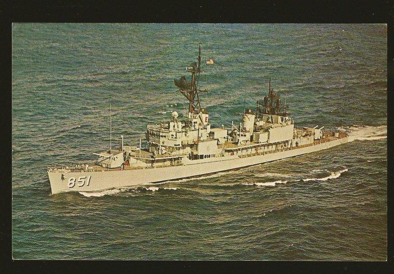 USS Rupertus (DD-851) US Navy Destroyer 1970's Color Postcard Unposted