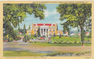 One of Shreveport's Palatial Homes and Garden, Shreveport, Louisiana, 30-40s
