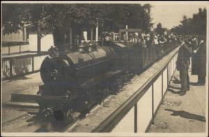Dusseldorf Germany Liliput-Bahn Miniature RR Train 1926 Real Photo Postcard
