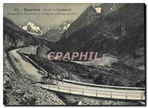Old Postcard Dauphine road Lautaret Gorge Romanche and Arsine Glacier (2500 m)