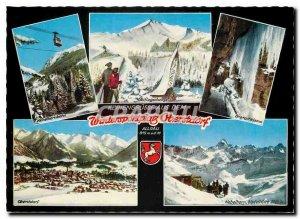 Postcard Modern Wintersportplatz Oberstdorf Feriengrusse aus dem