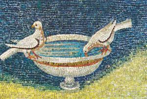 Italy Ravenna Mausoleo di Galla Placidia Colombe